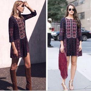 Anthro | Vanessa Virginia Kaleidoscope Dress M